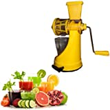 Saffron Fruit & Vegetable Juicer Mixer Grinder With Steel Handle, Yellow- By A To Z Sales-AZ5012
