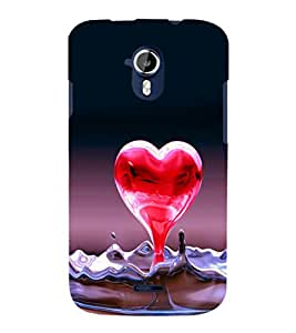 printtech Heart Water Design Back Case Cover for Micromax Canvas Magnus A117