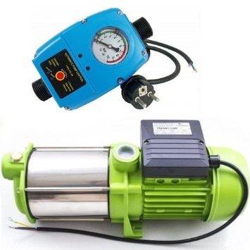 Kreiselpumpe Hauswasserwerk Jetpumpe Gartenpumpe mit Schaltautomaitk 1300 Watt 6000 L/h 5,1 bar