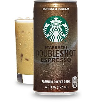 Starbucks Doubleshot Espresso Drink, 6.5 Oz. Cans (Pack of 24)