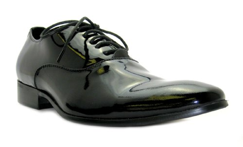 Size 10 Paolo Vandini Mens Wi Komodo Formal Shiny Black Lace Up Leather Dress Shoes