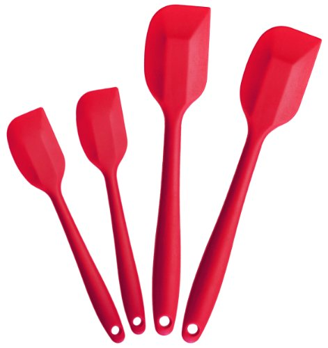 StarPack Home Silicone Spatula Set of 4 - Hygienic Solid Silicone Design - Cherry Red - 100% Food Grade Silicone - Premium Silicone Utensil... at Sears.com