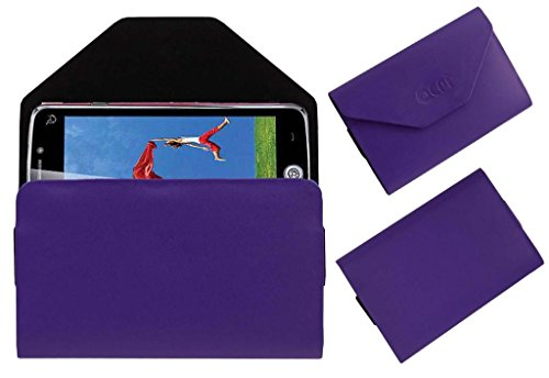 Acm Premium Pouch Case For Iball Andi Uddaan Quadcore Flip Flap Cover Holder Purple  available at amazon for Rs.179