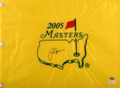 Jack Nicklaus Autographed 2005 Masters Golf Flag - LOA - JSA Certified - Autographed Pin Flags