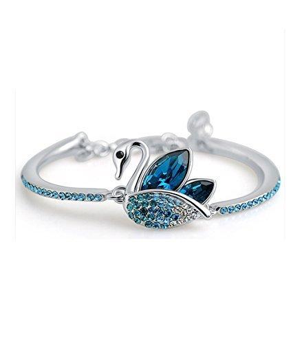 buy shining diva fashion blue platinum plated austrian