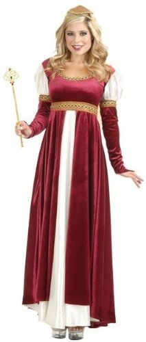 Charades Womens Camelot Renaissance Dress Halloween