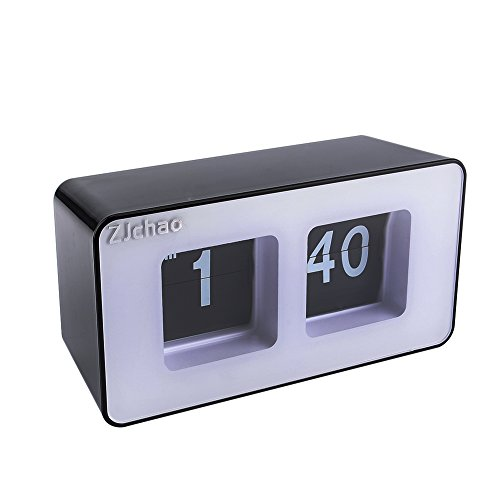 ZJchao Unique Retro Cube Nice Desk Wall Auto Flip Clock New Design Simple Modern