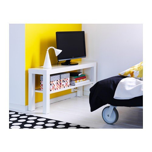 ikea tv bank lack 90x26x45cm beistelltisch in weiss. Black Bedroom Furniture Sets. Home Design Ideas