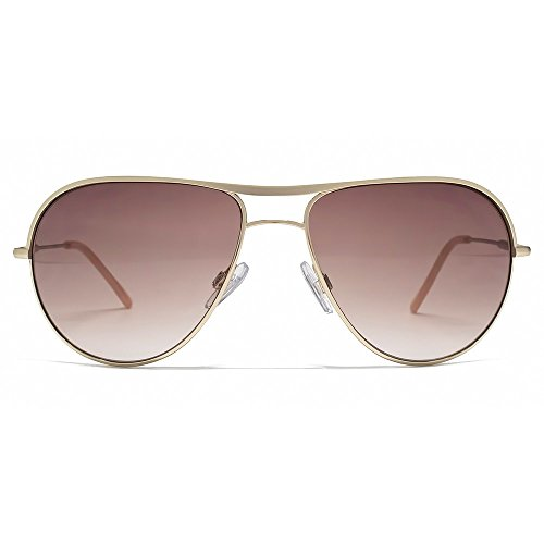 Karen Millen Brow Bar Aviator Sunglasses in Pale Gold KML200
