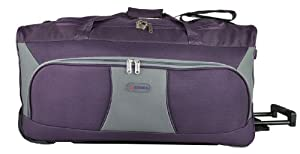 5 Cities 30 Large Plum Grey Ripstop Material Wheeled Holdall Trolley Bag Only 280kg And 102l Capacity