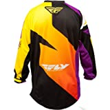 367-928YX - Fly Racing 2014 Youth F-16 LTD Motocross Jersey XL Purple/Yellow/Black