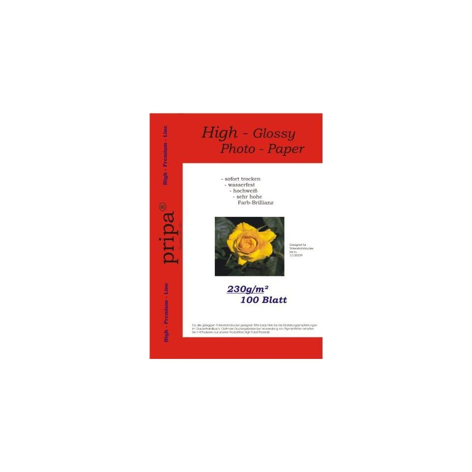 R 200 Blatt 100x150 230g//m² Fotopapier hochglänzend+wasserfest von LabelOcean