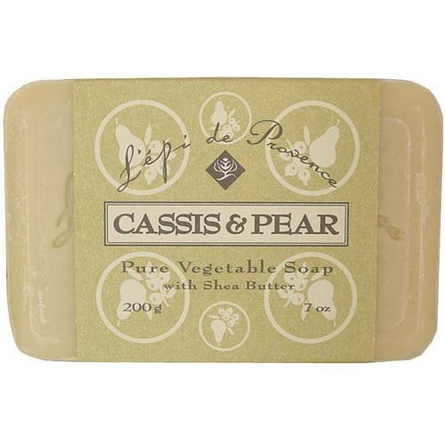 L'epi de Provence Triple Milled Cassis & Pear Shea Butter Vegetable Soaps from France 200g Cassis Bath