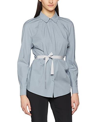 PIAZZA SEMPIONE Camisa Mujer Azul Grisáceo