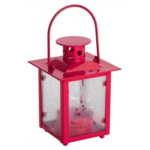 Summerhouse Lantern / Tea Light Holder Raspberry