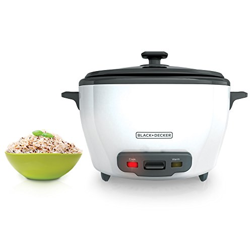 BLACK+DECKER RC5280 28-Cup Cooked/14-Cup Uncooked Rice Cooker and Food Steamer, White (Electric Rice Cooker 28 Cup compare prices)