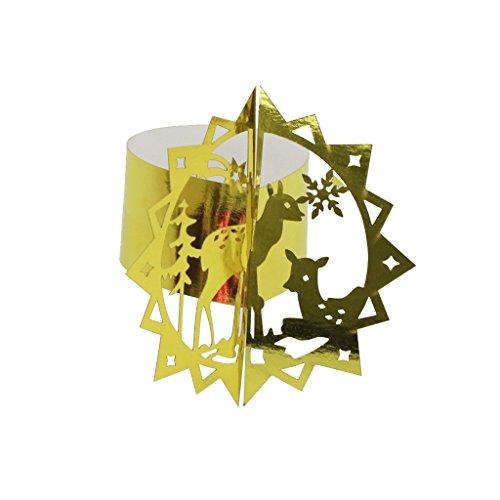 50x-Hirsch-Serviettenring-Serviettenhalter-Servietten-Schnalle-Hochzeit-Weihnachten-Bankett-Tisch-Dekor-gold