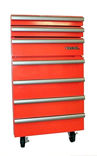 Versonel VSL18RTC3R Portable Garage Toolbox Refrigerator, 1.8 Cubic Feet, Fridge Red