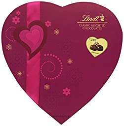 Lindt Chocolate Valentine Classic Chocolate Pralines Romance Heart, 9.8 Ounce