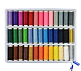 Bluecell 39 Assorted Color 200 Yards Per Unit Polyester Sewing Thread Spool Set + Bluecell LCD Cleaner Stylus