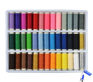 Find Bargain Bluecell 39 Assorted Color 200 Yards Per Unit Polyester Sewing Thread Spool Set + Bluec...