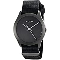 Nixon Women's Mod Stainless Steel Watch with Fabric Band (Black)