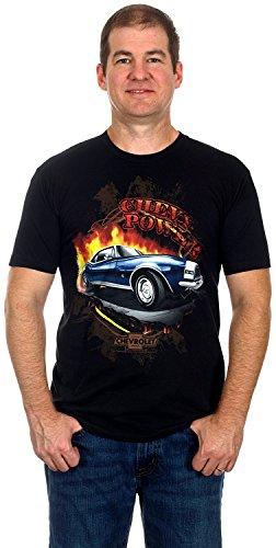 Camaro Chevy Power Men's Short Sleeve T-Shirt (Small, Black)