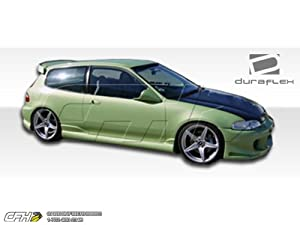1992-1995 Honda Civic HB Duraflex Bomber Side Skirts Rocker Panels - 2 Piece