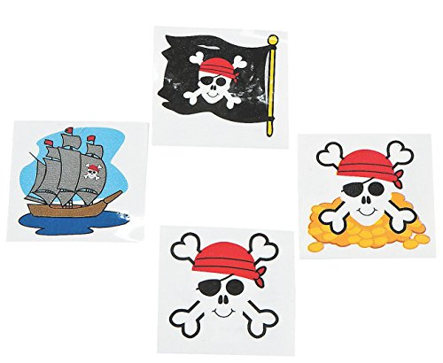Pirate Tattoos Favors 36 per package [Toy] - 1