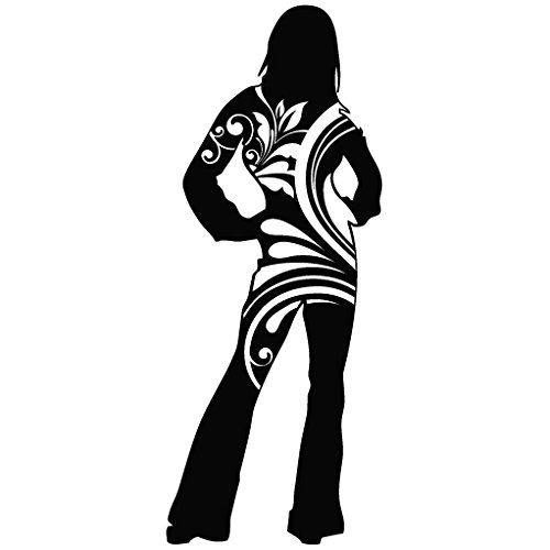Lady Success Fashion Modern Art - Tribal Decal Vinyl Removable Decorative Sticker for Wall, Car, Ipad, Macbook, Laptop, Bike, Helmet, Small Appliances, Music Instruments, Motorcycle, Suitcase