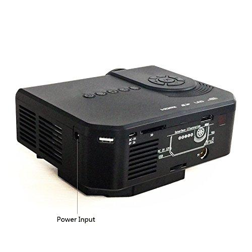 Fastfox Hd Projector Full Color 720p 3000 Lumens Analog Tv: FastFox LED LCD Mini Projector 150 Lumen 640x480 HD Home