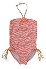 Kate Mack Girl's 7-16 Tahitian Sunset 1pc Swimsuit in Coral