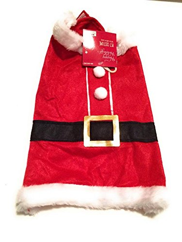 [Happy Holiday Small Dog Santa Costume Christmas Collection Pet Costume] (Batman And Robin Tutu Costumes)