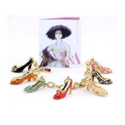 Shoe Charm Bracelet with seven charms