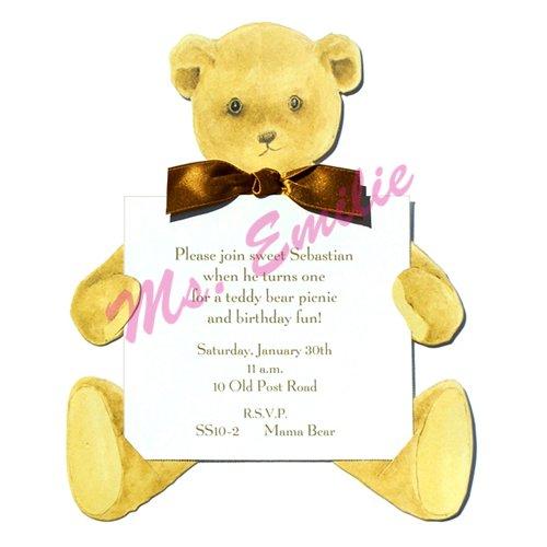 Teddy Bear Die-Cut Card, Pack Of 10 front-943028