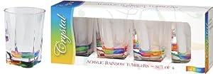 Merritt International Acrylic Drinkware Gift Sets Rainbow Crystal Tumbler, 14-Ounce