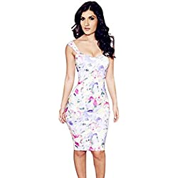 DAYAN Hot Sexy Lady Cocktail Clubwear Evening Party Bandage Bodycon Floral Women Dress Taglia S