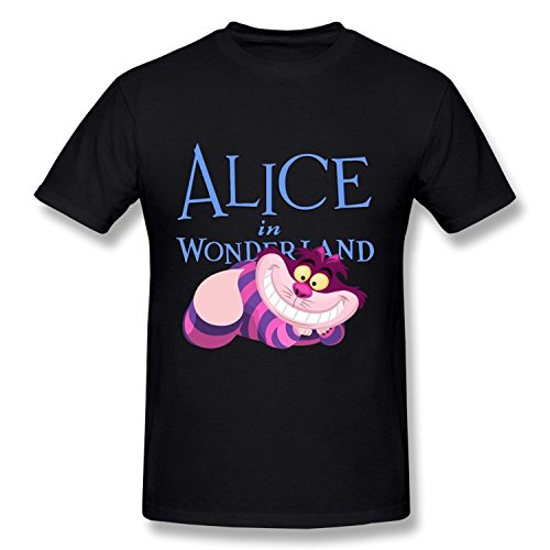 ZEKO Men's Tee Alice In Wonderland Cheshire Cat Size L Black (Man Can Microwave compare prices)