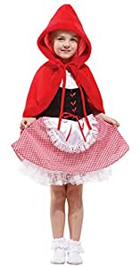 Halloween Costumes Little Red Riding Hood Set Performance Clothing Girls Child