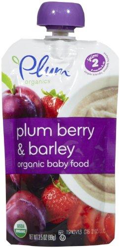 Plum Organics Stage 2 Fruit & Grain - Plum Berry Barley - 3.5 oz