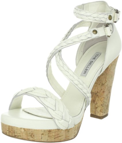 The Seller Alena S468, Sandali donna, Bianco (Weiss (lattesughero)), 39.5