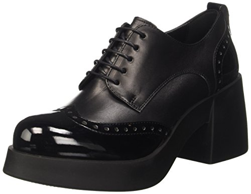 Cult Abba, Scarpe Oxford Stringate Donna, Nero, 38 EU