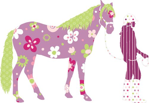 RoomMates RMK1664SLM Horse Crazy Peel & Stick Giant Wall Decals