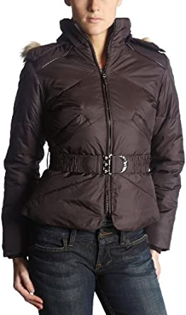 Big Chill Women's Big Chill Belted Puffer Jacket,Eggplant,Small