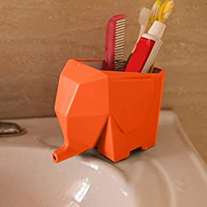 Agile-Shop Cute Elephant Design Plastic Cutlery Drainer Storage Holder Box for Home Kitchen, Bathroom, Toothbrush, Small Knife Accessories