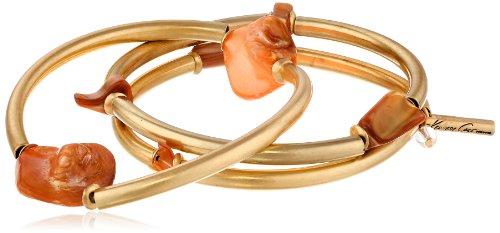 Kenneth Cole New York Orange Shell Stretch Bracelet Set