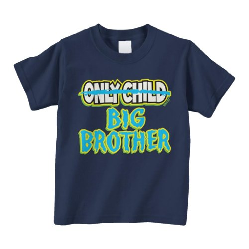 Threadrock Little Boys' Only Child To Big Brother Toddler T-Shirt 2T Navy