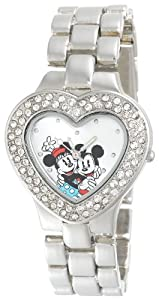 Brand New Disney Mickey and Minnie Mouse Women's MN2003 Silver Heart Dial Bracelet Watch IGN