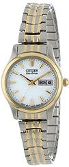 Citizen Womens EW3154-90A Eco-Drive Flexible Band Two-Tone Watch