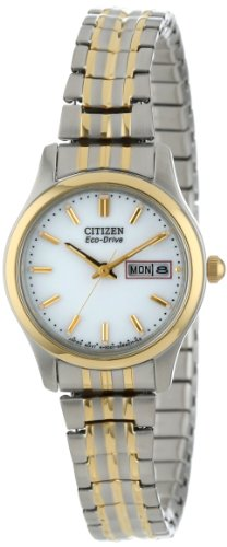 Citizen Women's EW3154-90A Eco-Drive Flexible Band Two-Tone Watch